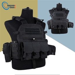 multicam nero Sconti Colore nero 600D Nylon Molle TACTICAL GAMESS Body Body Armor Hunting Plate Carrier Airsoft 094K M4 Pouch Combat Gear Multicam Y201123