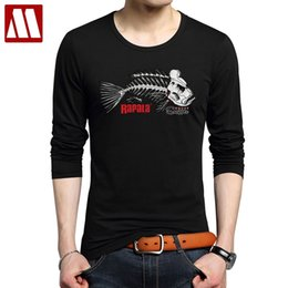 T-shirt imprimé de la mens en Ligne-2020 Vente chaude Super Mode Jolly Pirate T-shirts Funny Skeleton Poisson Bones Imprimer Mens T-shirt T-shirt Casual T-shirts à manches longues
