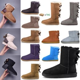Scarpe da stivale per bambini online-2021 Designer women uggs boots ugg winter boots travel luggage slippers kids ugglis australia australian satin boot ankle booties fur leather outdoors shoes