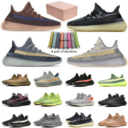 Yeezy zapatos casuales online-adidas yeezy boost 350 v2 Con caja Ash Pearl Fade Kanye West Flat Zapatos Casual Asriel Israfil Cinder Static Reflective Designers Trainers Deportes Zapatillas deportivas