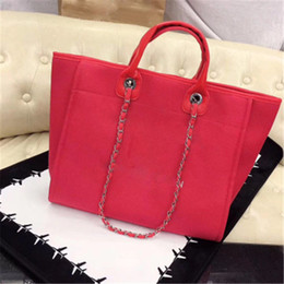 Borse europee di design online-2020 Nuovo Arrivo Arrivo European and American Style Womens Luxury Designer Bag Fashion Canvas Borsa Beach Spiaggia Lussuosa Ladies Casual Shopping Totes