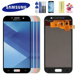 display lcd per samsung a5 Sconti Per Samsung Galaxy A5 2017 LCD A520 SM-A520F Display LCD Display touch screen Digitizer Digitizer Telaio per schermo LCD A5 2017 A520
