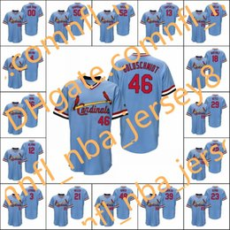 Pullover di baseball custombackback online-Uomini # 4 Yadier Molina 46 Paul Goldschmidt 22 Jack Flaherty Wainwright Women Youth Youth Throwback Jersey personalizzato