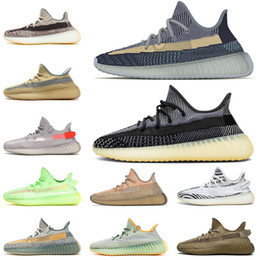 2021 chaussures de tennis de mode Boost 350 Israfil Qualité Kanye Chaussures De Course Cinder Linen Hommes Femmes Tail Light Desert Sage Mode Yecheil STOCK X Marsh Baskets Sneaker Taille 13 promotion chaussures de tennis de mode
