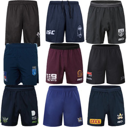 Corto di bronco online-NRL Rugby League Jerseys 2020 Melbourne Storm Parramatta Eels Short Rugby Shorts Brisbane Broncos Guerrieri NSW 5XL Jerseys Penrith Panthers