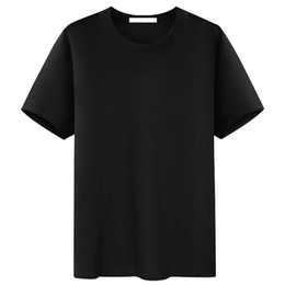 Grandi magliette online-Cotton Black Big M-5XL Mens T-Shirt T-shirt Cott Cotton Cotton Fashion Modo Morbido traspirante T-shirt Autunno Top Manica corta T-shirt Nuovo con tasca