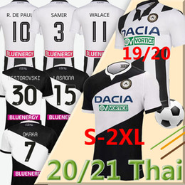 Paul t-shirts online-20 21 Maglia Udinese Calcio Soccer Jersey 2020 2021 Home Kit White Black Paul Jankto 2019 Ter Lawest Pezzella Behrami Football Hemd