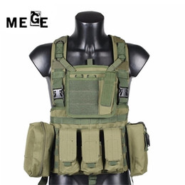 2021 maglia tattica molle nera Mege Military Tactical Gilet Polizia Paintball Wargame Wear Molle Body Armor Hunting Vest CS Prodotti per esterni Attrezzatura Nero, Tan 20121414
