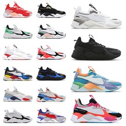 Scarpe sneakers r online-Scarpe Puma RS X 2021 New Mens Running Shoes Reinvenzione Cool Black White Creepers dad Chaussures Uomo Donna Runner Trainers Sneakers sportive Taglia 36-45 off white