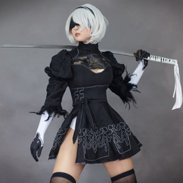 2021 sexe de filles s Nier automate yorha 2b no. 2 Kind B Sex Cosplay Cosplay Sexy Lingerie Costume Fête Anime Custom Girls Fête Noir.
