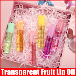 Niedliche lipglosses online-Transparent Obst Nahrhafte Lipgloss Lipgloss Natural Color ändern Jelly Flüssigkeit Lippenstift Moisturizing Lip Gloss Lip Netter Oil