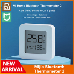 Thermometerfrei online-Original YouPin Mijia Bluetooth Thermometer 2 Wireless Smart Electric Digital Hygrometer Thermometer Arbeit mit Mijia App Kostenloses Schiff