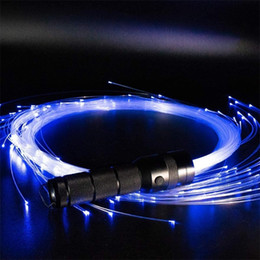 guanti della torcia elettrica Sconti Led Fiber Ottic Whip Cable LED Glow Gloves Multicolor Dance Whip Light Up Rave Toy Flashlight Dance Festival Stick Glow LED 201216