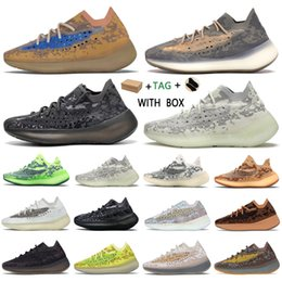 Fábricas de calcetines online-2021 Kanye West yeezy boost 380 v3 Top  yezzy yeezys Factory yecheil Quality Men Sneakers Alien Mist Black Camo chaussures Women Running Shoes Receipt Socks Keychains