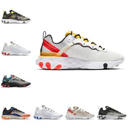2021 scarpe da corsa 87 donne Nike react element 87 Shoes New Air max 87s 2021 New React Vision Element 55 87 Triple Black Bianco Antracite Donne Donne Scarpe da corsa Iridescente Designer Mens
