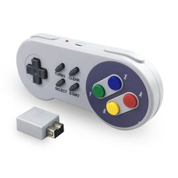 2021 classici giochi snes 2.4g Controller wireless Gaming Joystick Joypad Gamepad per NES (SNES) Super Nintendo Classic Mini Game Accessori Pulsante colore Y1209