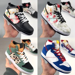 Tessuto doraemon online-Dunk Sb High Pro Dog Walker 420 Skunk Cheech Walk the Venom Doraemon Stars Laser Orange Pacman Scarpe da basket Scarpe sportive Sneakers sportive
