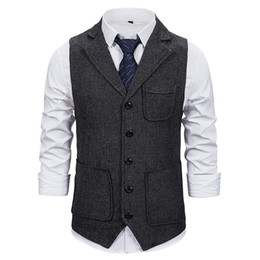 2021 hochzeitsweste für männer design Markyi 2021 Mode Slim Fit Sleeveless Wedding Weste Herren Design Single Breasted Suit Weste für Männer