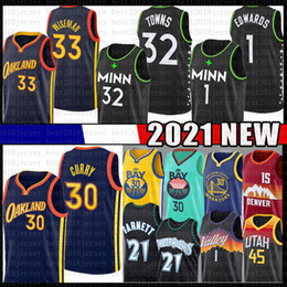2020 guerrieri curry Stephen Karl-Anthony Curry Towns Anthony James Edwards Wiseman Jersey Garnett Minnesota