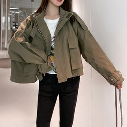 2020 safari vêtements femme Femmes Courds de la veste de Safari Casual Safari Style Vintage Veste Bomber Punk Vestes Top Vêtements 2021 Nouveau printemps promotion safari vêtements femme