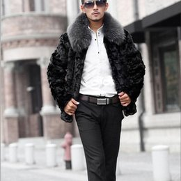 2021 abrigo de moda de piel de conejo negro New Winter Faux Cool 2021 warm Fashion Black high-end Rabbit Coat imitation fur Men plus size S 4XL H1209