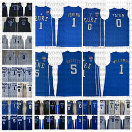 2021 duc basket jersey hommes Hommes Duke Blue Devils College Basketball Jersey Jayson Tatum 1 Williamson 5 Barrett Kyrie Irving University Shirts cousu