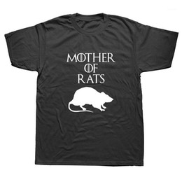 ratto t shirt  Sconti Summer Style Funny Madre di Ratti T-shirt T-shirt Streetwear Casual Manica Corta Stampa Cotton Hip Hop Casual O-Neck T-Shirt Top Top Tee1