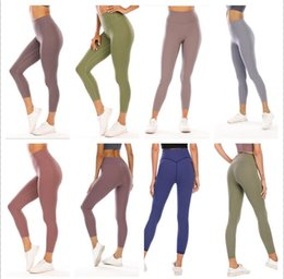 Mulheres calça marinha on-line-2021 Womens Stylist lu shorts lulu vfu yoga pants leggings yogaworld women workout fitness set Wear Elastic Fitness Lady Full Tights Solid