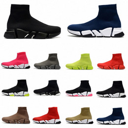 novos sapatos casuais para homens Desconto 2021 with box designer men women speed trainer sock boots socks boot casual shoes shoe runners runner sneakers