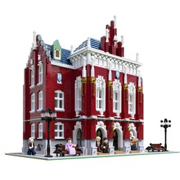 construir bicicleta Rebajas MOC City Streetview Series The Brickstive Havana Cafe Bike Shop University Post Model Modular Building Blocks Bricks Toys Regalos LJ200928