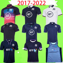 T shirts parole online-2020 2021 Scotland Rugby League Jersey 20 21 Vintage National Team Rugby Blue League Camicia retrò Polo T-shirt da uomo Tazza da uomo Top Quality