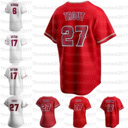 Anjos de beisebol on-line-2020 Novo 27 Truta Los Angel Shohei Ohtani Albert Pujols Anthony Rendon Andrelton Simmons Dylan Bundy Julio Teeran Baseball Camisas
