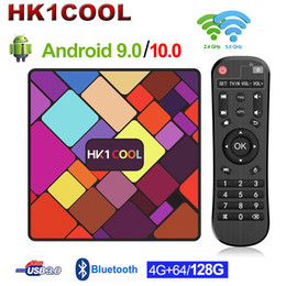 Kühlen tv online-HK1 Cool Android 9.0 TV Box Rockchip RK3318 Quad-Core 4GB 128 GB 2.4G / 5G Dual WiFi Media Player USB3.0 Android 10.0 Set Top Box Smart TVBOX