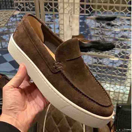 Dessus de bateau en Ligne-Chaud Red Bottom Molards Hommes Snefers Sneakers Casual Plat Hommes Femmes Femmes Tops Designers Designers Bateau à roulettes Appartements Skateboard Mocafers Suadi Cuir chaussures