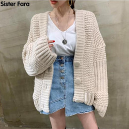 2021 femme coréenne bouton pull-over Sœur Fara Spring Automne Nouvelle Femme's Pull Cardigan Veste coréenne Harajuku Lâche Bouche Bouche Bouton Tricoté Choses Tendance Tops