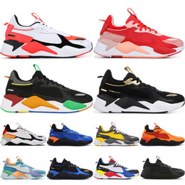 Scarpe sneakers r online-RS-X Casual shoes 2019 hot RS X Reinvention Scarpe casual da uomo donna designer Fucsia Viola Bianco Blu Bright Ateach Blue Atoll Sneakers bianche da ginnastica