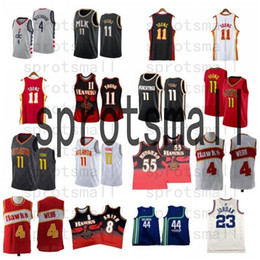 2021 44 maillot de basket-ball TRAE 11 Young Russell 4 Westbrook Basketball Jersey Mens 8 Smith Dikembe 55 Mutombo Pete 44 Shirt rétro Maravich