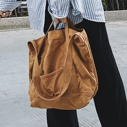 2021 sacchetto di acquisto dell'uomo di eco Capacità Casual Tessuto Tote Femminile Farbico Farbic Reusable Shopping Adolescente Tempo libero Eco-friendly Big Size Top-Handle Bag Q1230 sacchetto di acquisto dell'uomo di eco economici