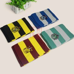harry potter slytherin cachecol Desconto Harry Potter Gryffindor College Scarves Slytherin Raven Crouch Patch