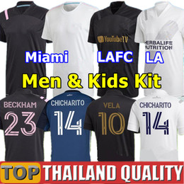 2021 chemises miami 2020 Los Angeles FC maillots de foot 2021 LAFC Carlos Vela Inter Miami Beckham maillot de foot noir LA Galaxy Chicharito Hommes kit enfant uniforme chemises miami pas cher