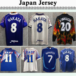 Maillots de football du japon en Ligne-98 Japon Soma Akita Okano Nakata rétro mens courte manches longues de football Jerseys Team National Team Kawaguchi Chemise de football Kazu Hattori