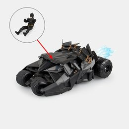 Modello batmobile online-SCI-FI Revoltech Series No.043 Bruce Wayne Batmobile Tumbler PVC Action Figure Figure Model giocattolo