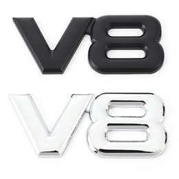 2021 autocollants de voiture amg BMW Volvo Sticker V6 pour l'emblème arrière Badge Stickers Tail Mazda V8 Sticker Benz AMG Métal Ford Chevrolet Skoda Audi Opel Voiture Trunk Kkpnh autocollants de voiture amg pas cher