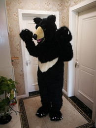 Schwarze bär maskottchen kostüme online-Hot high quality Real Pictures black bear mascot costume free shipping