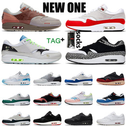 2021 scarpe da corsa 87 donne 2019 Nike Air Max 1 atmos 1 allevati Just Orangel White Patch Atomic Teal Parra University Blue 87 da donna sneaker sportive sneakers OFF Max 36-45