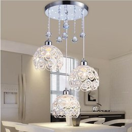 Luci a sospensione in cristallo online-Crystal Lamp Restaurant Pendant Lights Personalità creativa Modern Semplicity Bar Sala da pranzo Dinin Lighting paralume (Dia: 20 cm)