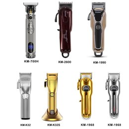 Coltello per trimmer online-Kemei Professional Electric Hair Trimmer Beard Shaver Recaricabile Clipper Hair Clipper Titanio Coltello Tagliatrice per capelli KM-2600 K32 K32 Km-700H