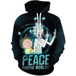 rick morty Promotion 2020 NOUVEAU DESIGN RI CK ET MO RTY MENS SWOODIES 3D PRINTMINAIRES Homme Homme Mode Rick Morty Casual Hoodie Homme Sweat-shirt C1117