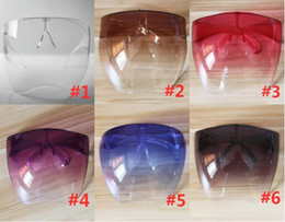 Máscara s online-DHL Ship Protective Face Shield Gafas Gafas Gafas Safety Impermeable Glasses Anti-Spray Máscara Gafas protectoras Gafas de sol de vidrio