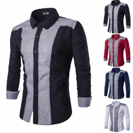polyester formelle t shirts Promotion Hommes Blouse Mens Homme à manches longues Oxford Formal T-shirts occasionnels Chemisier Top